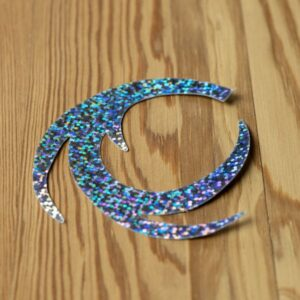 Dragon Tails Holographic Silver XL - Pacchiarini