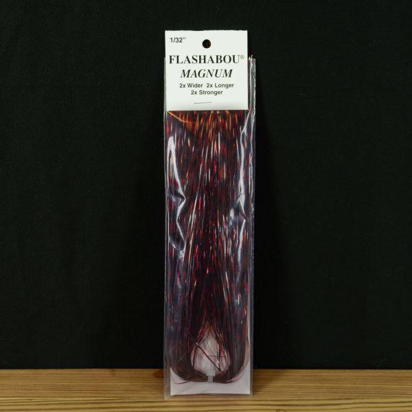 Flashabou Magnum Barred Red / Black - Hedron - 2