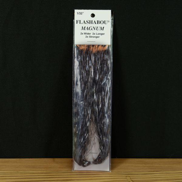 Flashabou Magnum Barred Clear / Black - Hedron - 2