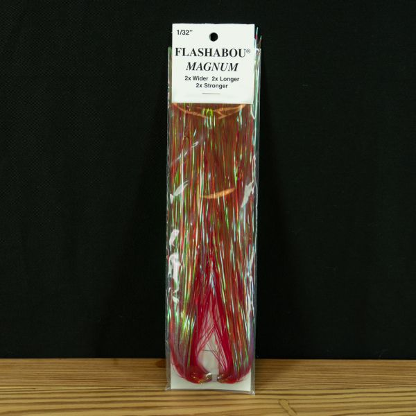 Flashabou Magnum Dyed Pearl  Red - Hedron - 2