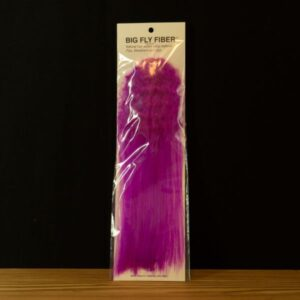 Big Fly Fiber with Curl - Purple - Hedron - 2