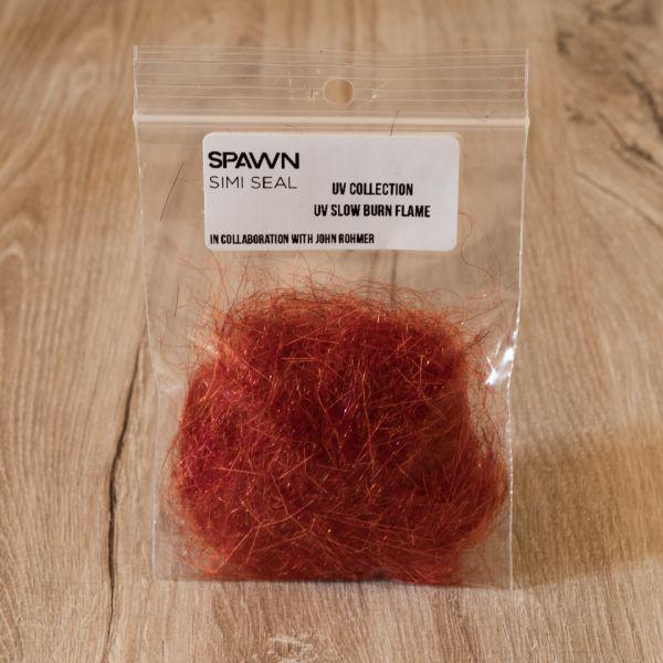 Spawn's UV Simi Seal Dubbing - UV Slow Burn Flame - Spawn Fly Fish - 3