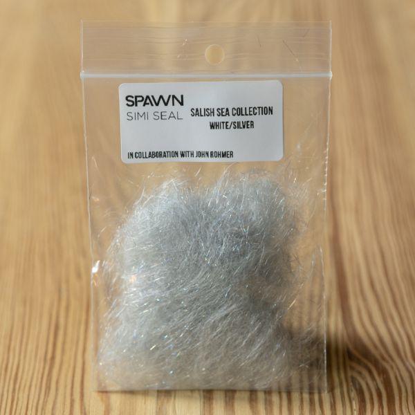 Spawn's Simi Seal Dubbing - White / Silver - Spawn Fly Fish - 2