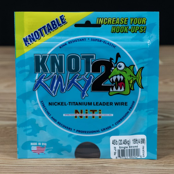 Single Strand Knot 2 Kinky 45lb 15ft - Knot 2 Kinky - 2