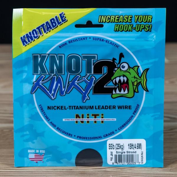 Single Strand Knot 2 Kinky 55lb 15ft - Knot 2 Kinky - 2