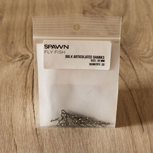 Articulated Shanks - 10 mm - 20 Pack - Spawn Fly Fish - 2