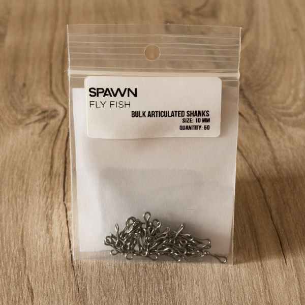 Articulated Shanks - 10 mm - 50 Pack - Spawn Fly Fish - 2
