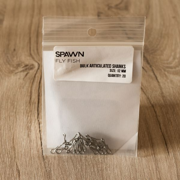 Articulated Shanks - 12 mm - 20 Pack - Spawn Fly Fish - 2