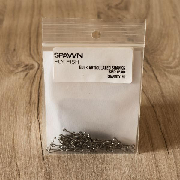 Articulated Shanks - 12 mm - 50 Pack - Spawn Fly Fish - 2