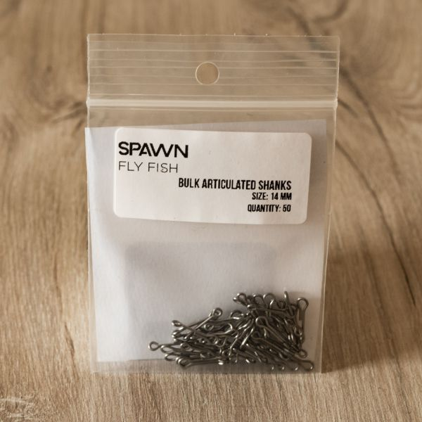 Articulated Shanks - 14 mm - 50 Pack - Spawn Fly Fish - 2