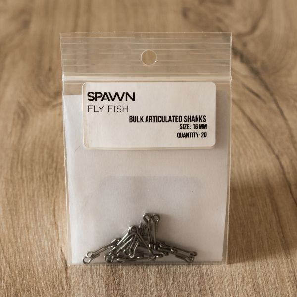 Articulated Shanks - 16 mm - 20 Pack - Spawn Fly Fish - 2