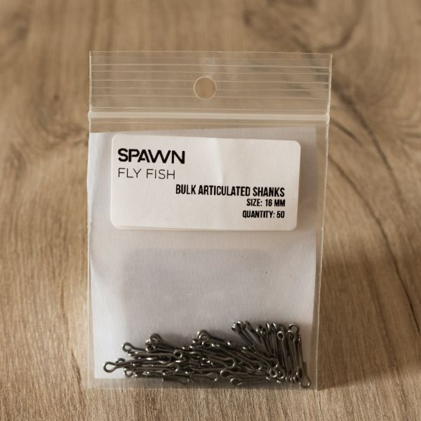 Articulated Shanks - 16 mm - 50 Pack - Spawn Fly Fish - 2
