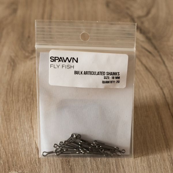 Articulated Shanks - 18 mm - 20 Pack - Spawn Fly Fish - 2