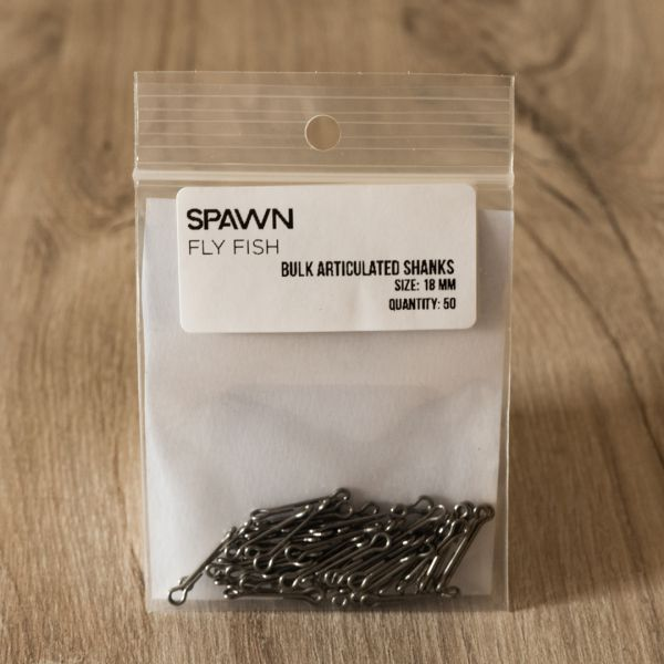 Articulated Shanks - 18 mm - 50 Pack - Spawn Fly Fish - 2