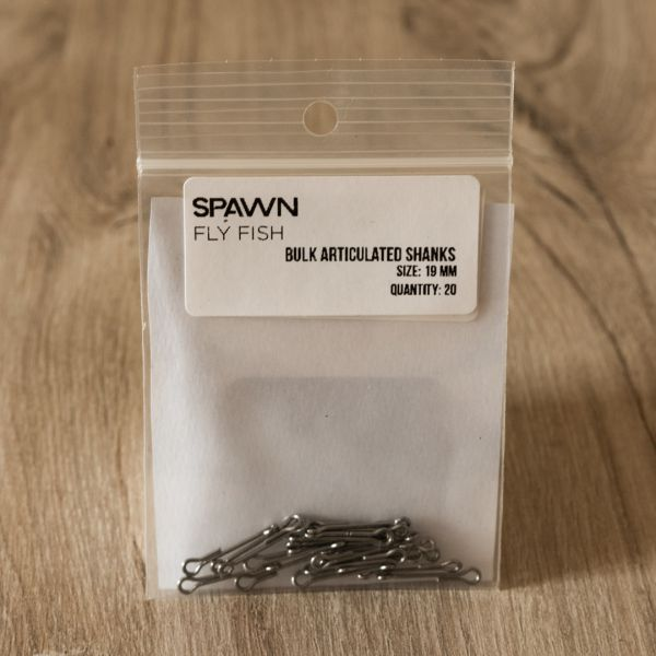 Articulated Shanks - 19 mm - 20 Pack - Spawn Fly Fish - 2