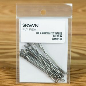 Articulated Shanks - 55 mm - 20 Pack - Spawn Fly Fish - 2
