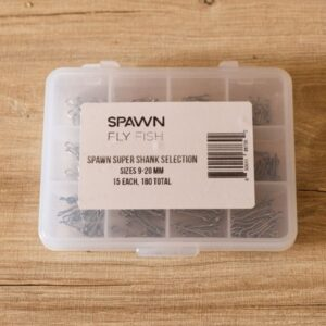 Super Shank Selection - (9-20 mm (15 Each Size)) - 180 Pack - Spawn Fly Fish