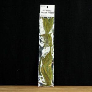 Strung Fuzzy Fiber  - Olive - Hedron - 2