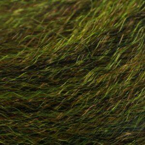Strung Fuzzy Fiber  - Olive - Hedron