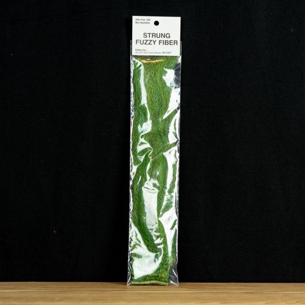 Strung Fuzzy Fiber  - Green Olive - Hedron - 2
