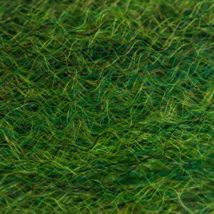 Strung Fuzzy Fiber  - Green Olive - Hedron