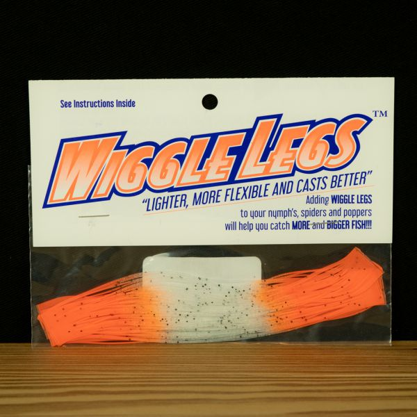 Wiggle Legs - Clear / Hot Orange - Hedron - 2
