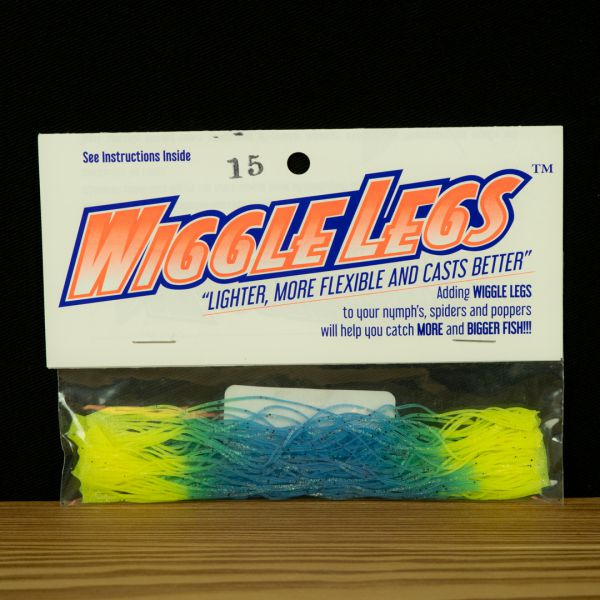 Wiggle Legs - Blue / Chartreuse - Hedron - 2