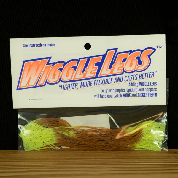 Wiggle Legs - Pumpkin / Chartreuse - Hedron - 2
