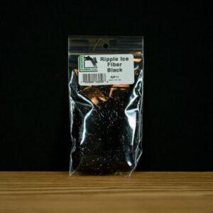 Ripple Ice Fiber - Black - Hareline Dubbin - 2