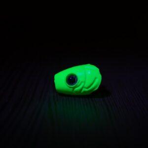 Crash Test Yummy - Ultra UV Nuclear Green - 3 Pack - Spawn Fly Fish - 2